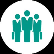 Corporate training coaching icon